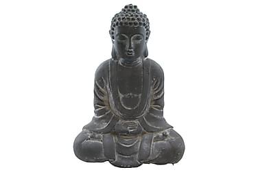 Buddha Istuva Harmaa K35 cm