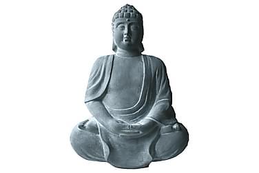 Buddha Istuva Harmaa Seinä H55 cm
