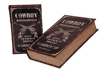 Kirjasäilytin Cowboy 2:n setti