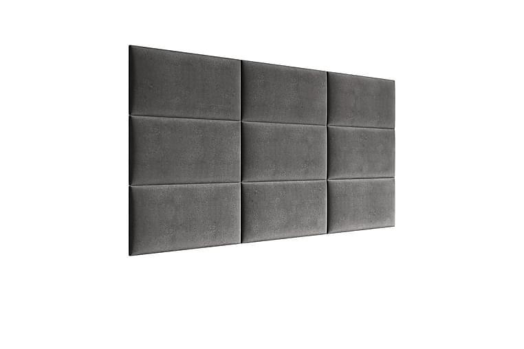 Pehmustettu Seinäpaneeli Sharnel 60x30 cm - Harmaa - Sisustustuotteet - Sisustusesineet - Sisustuskoristeet & tarvikkeet