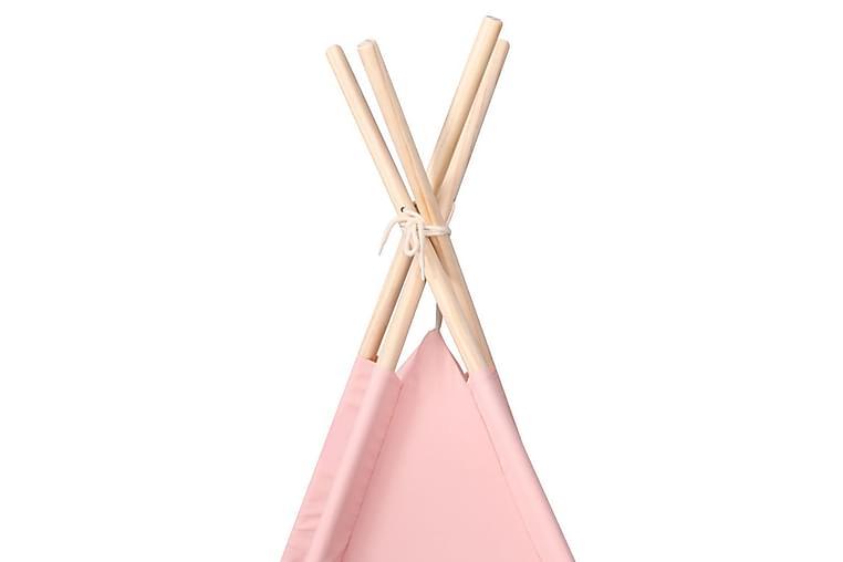 Lasten tiipiiteltta + laukku peachskin pinkki 120x120x150 cm - Pinkki - Sisustustuotteet - Lastenhuoneen sisustus - Lastenhuoneen koristeet