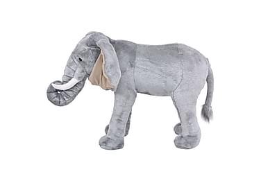 Seisova pehmolelu norsu harmaa XXL