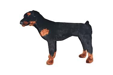 Seisova pehmolelu rottweiler musta ja valkoinen XXL