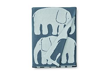 Vauvan torkkupeite Elefantti, 80x100cm, petrooli/vsin