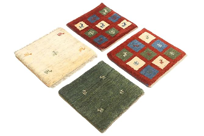 Itämainen matto Gabbeh 40x40 4-pak - Monivärinen - Sisustustuotteet - Matot - Itämaiset matot