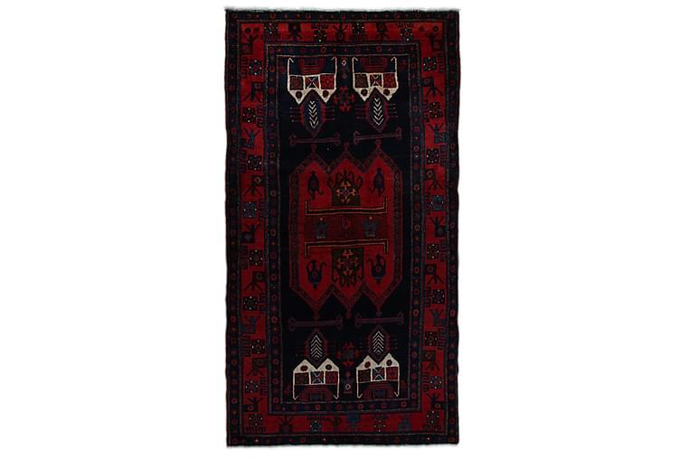 Käsinsolmittu persialainen matto 122x225 cm - Tummansininen / Punainen - Sisustustuotteet - Matot - Itämaiset matot