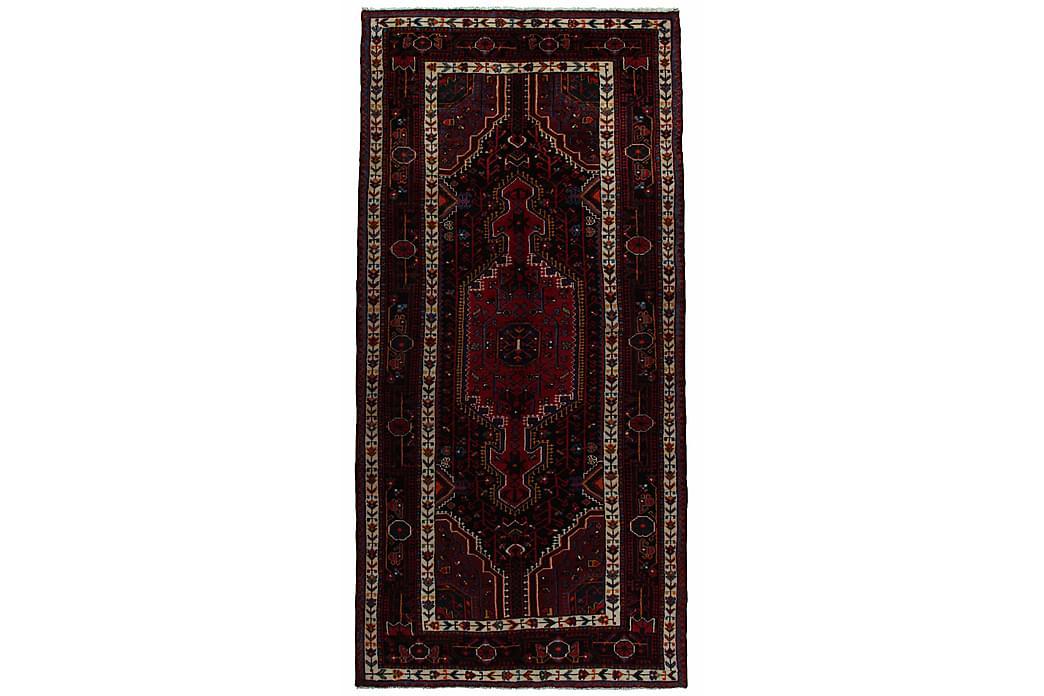 Käsinsolmittu persialainen matto 132x279 cm - Punainen/Tummansininen - Sisustustuotteet - Matot - Itämaiset matot