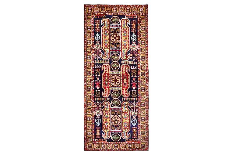 Käsinsolmittu persialainen matto 132x310 cm - Tummansininen / Keltainen - Sisustustuotteet - Matot - Itämaiset matot