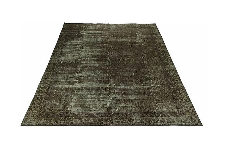Käsinsolmittu Persialainen matto 281x353 cm Vintage - Tummanvihreä / Kulta - Sisustustuotteet - Matot - Itämaiset matot