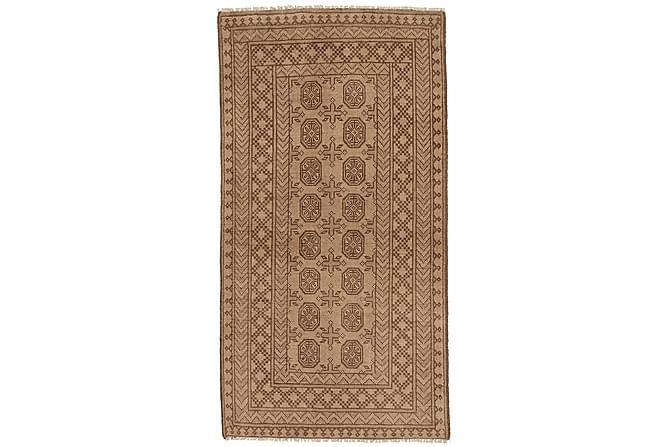 Matto Afghan 91x182 Suuri - Beige/Ruskea - Sisustustuotteet - Matot - Itämaiset matot