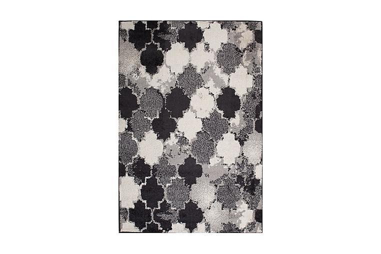 Matto Lotto-7 100x150 cm Harmaa/Musta/Valkoinen - Sisustustuotteet - Matot - Itämaiset matot