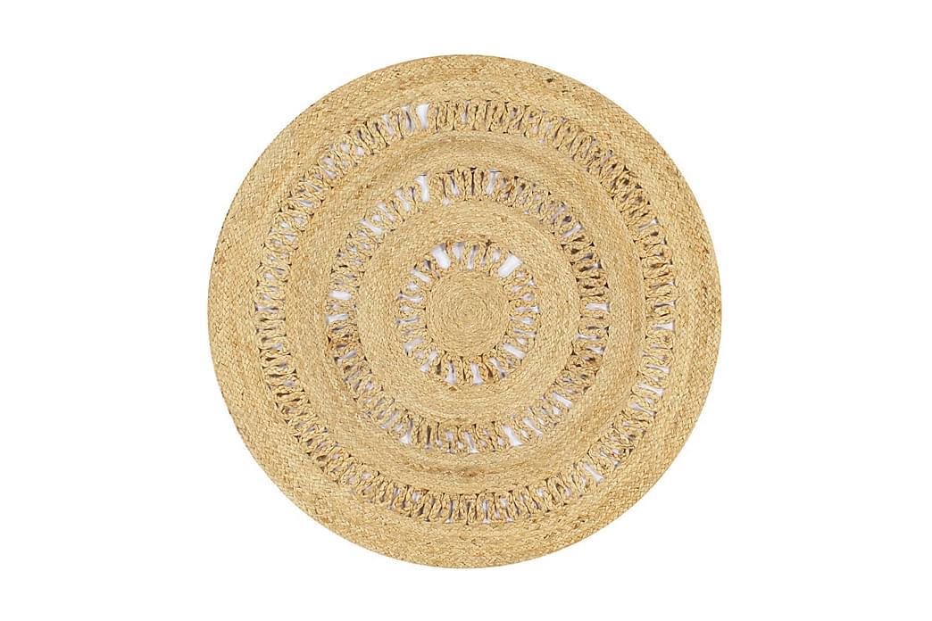 Käsintehty matto punottu juutti 90 cm - Ruskea - Sisustustuotteet - Matot - Sisalmatot