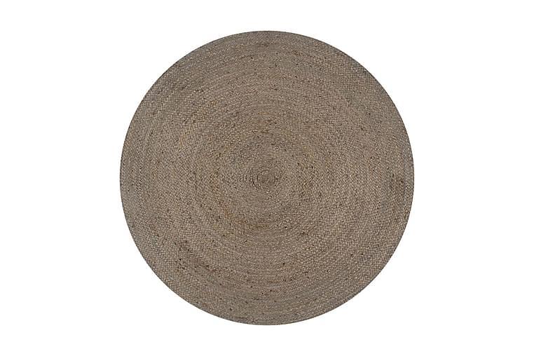 Käsintehty pyöreä juuttimatto 90 cm harmaa - Harmaa - Sisustustuotteet - Matot - Sisalmatot