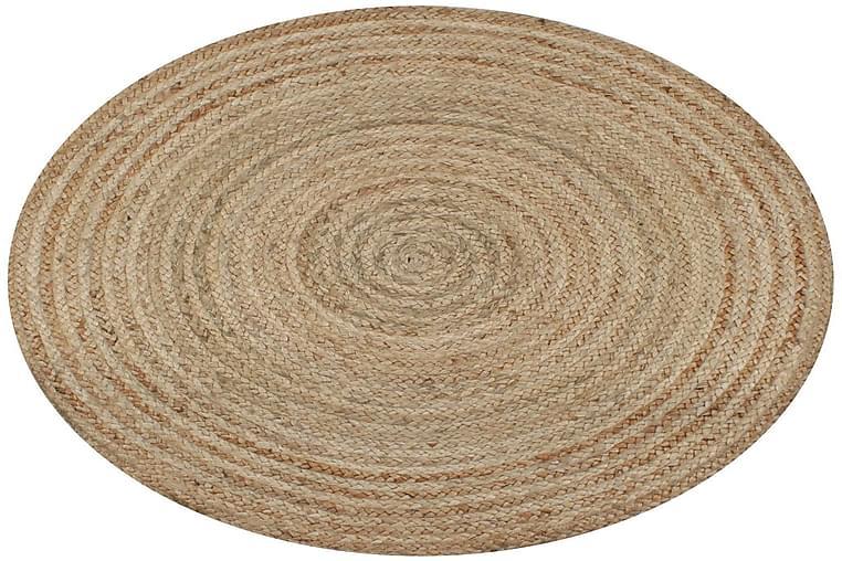 Pyöreä matto 150 cm punottu juutti - Beige - Sisustustuotteet - Matot - Sisalmatot