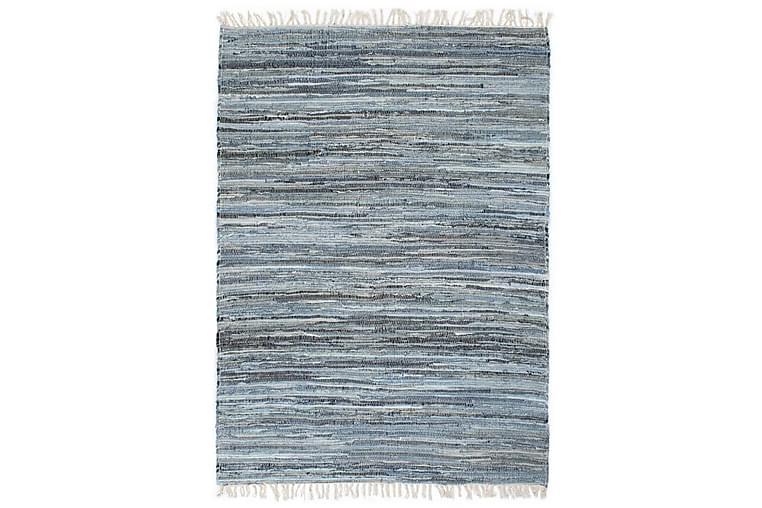 Käsin punottu chindi-matto denim 160x230 cm sininen - Sininen - Sisustustuotteet - Matot - Käsintehdyt matot