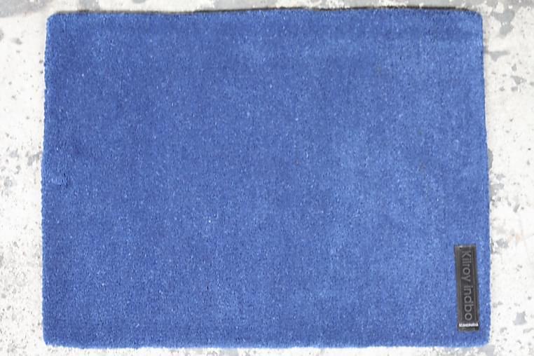 Käsinpunottu matto Olivia Pyöreä 90 - Sininen - Sisustustuotteet - Matot - Käsintehdyt matot