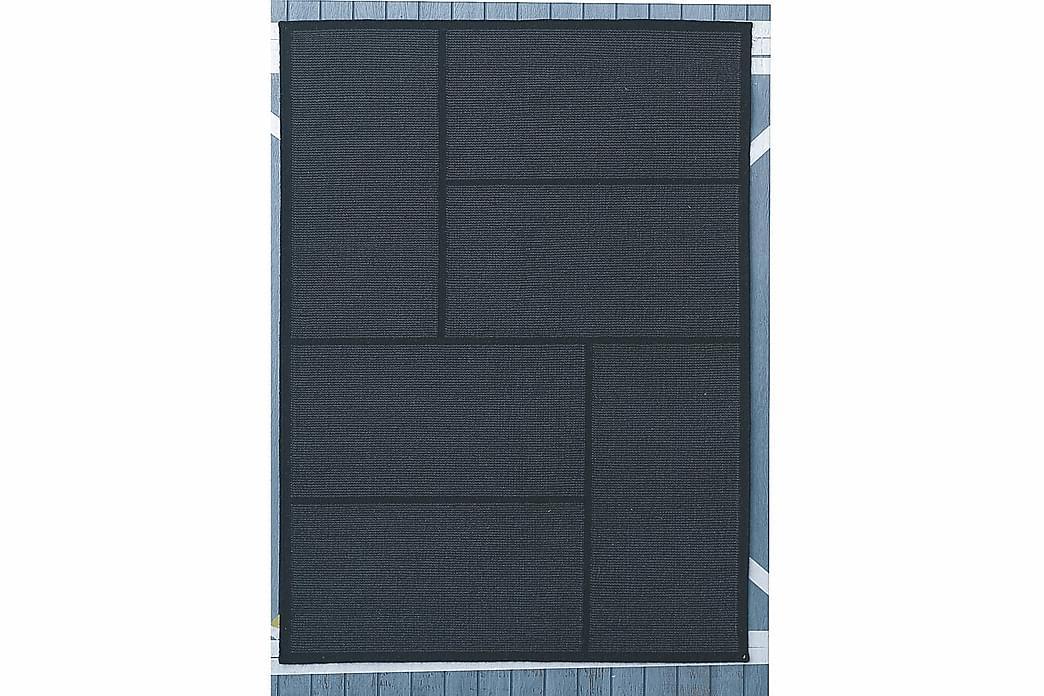 Kelimmatto Portsmouth 170x240 - Musta/Harmaa - Sisustustuotteet - Matot - Käsintehdyt matot