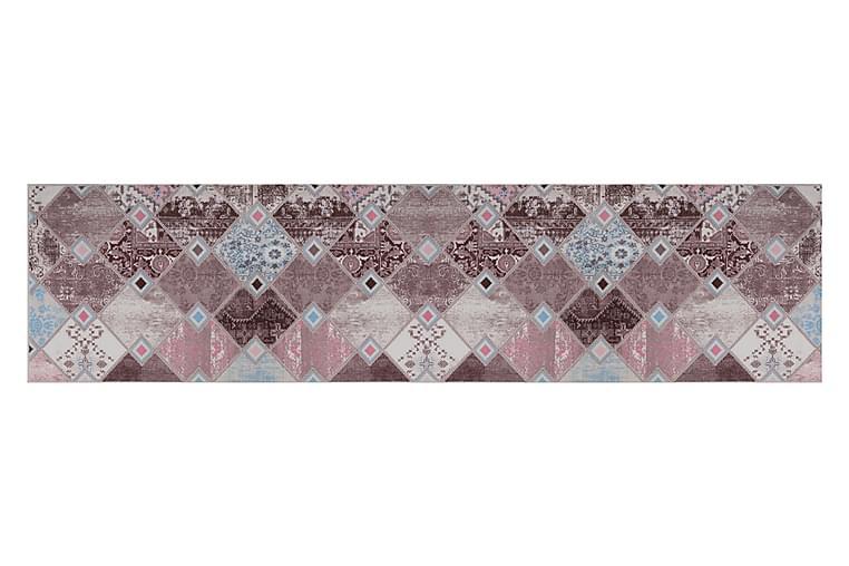 Käytävämatto Kozdere 120x500 cm - Vaaleanpun/sin/beige/ruskea - Sisustustuotteet - Matot - Käytävämatot