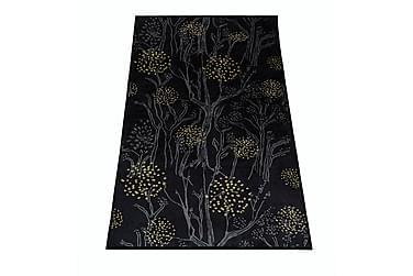 Käytävämatto Metsänkulta 80x150 cm musta
