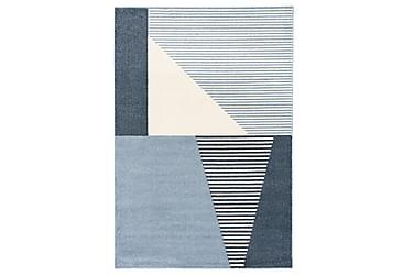 Matto Dover 160x230 cm sininen/valkoinen