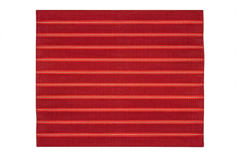 Puuvillamatto Pispala 80x200 cm Punainen - Hestia - Sisustustuotteet - Matot - Käytävämatot