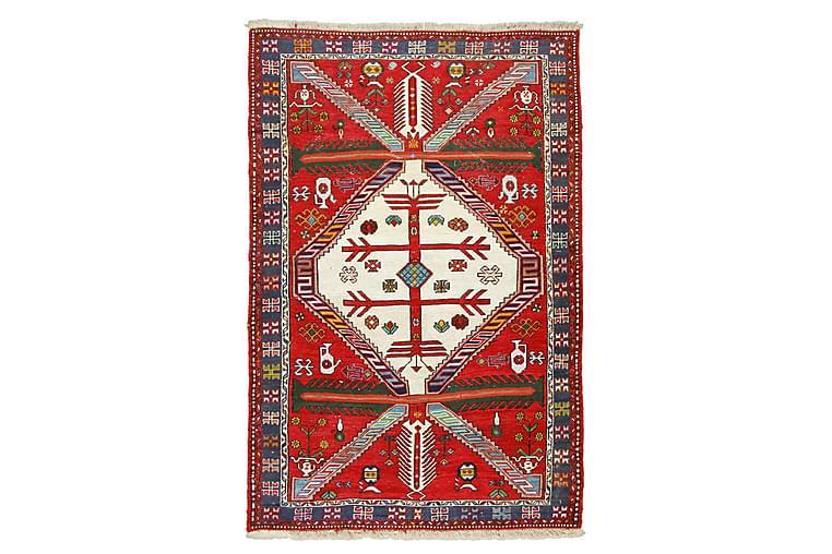 Käsinsolmittu Persialainen matto 105x155 cm Kelim - Punainen/Tummansininen - Sisustustuotteet - Matot - Kelim-matot