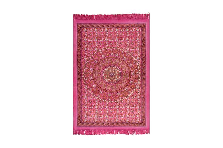 Kilim matto puuvilla 120x180 cm kuviolla fuksianpunainen - Punainen - Sisustustuotteet - Matot - Kelim-matot