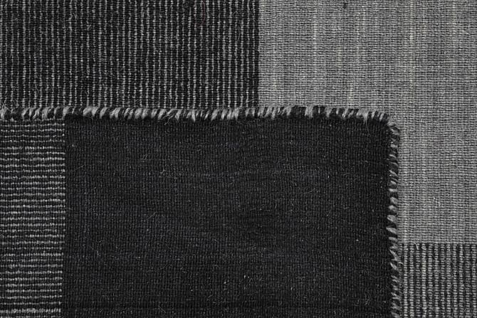 Suuri Kelimmatto Check 190x240 - Harmaa - Sisustustuotteet - Matot - Kelim-matot