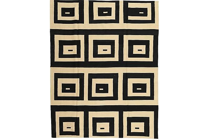 Suuri Kelimmatto Moderni 180x225 - Musta/Valkoinen - Sisustustuotteet - Matot - Kelim-matot