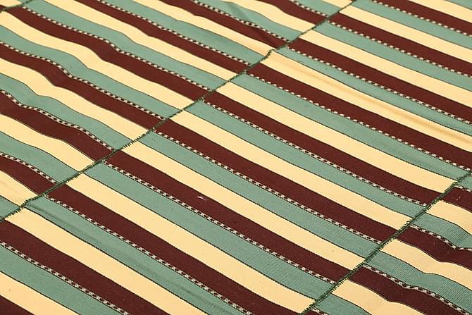 Suuri Kelimmatto Moderni 224x270 - Vihreä | Keltainen - Sisustustuotteet - Matot - Kelim-matot
