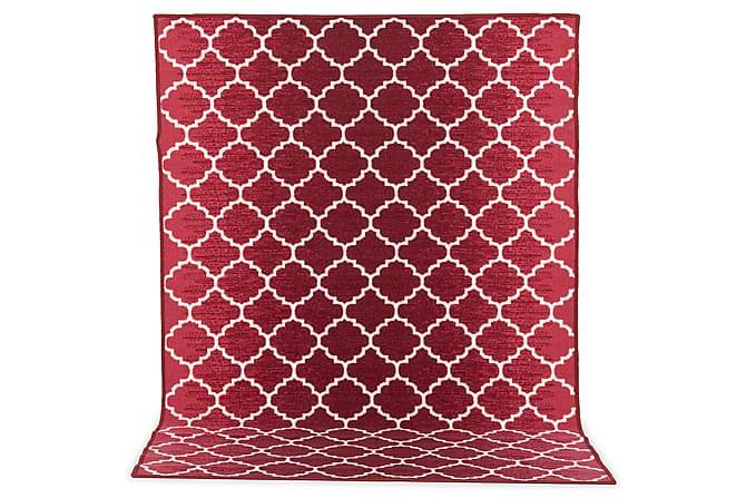 Kumipinnoitettu matto Rio 133x190 - Punainen - Sisustustuotteet - Matot - Kumipohjamatot