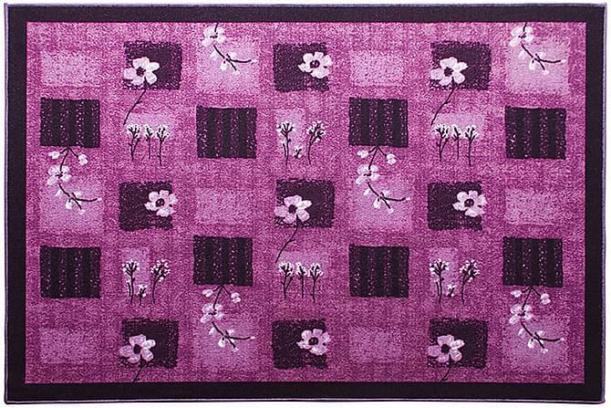 Matto Flower 80x150 - Liila - Sisustustuotteet - Matot - Kumipohjamatot