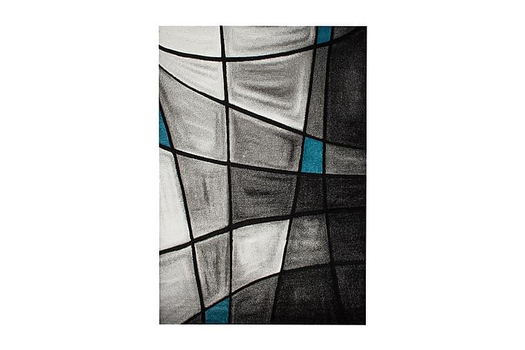Friezematto London Brilliance 133x190 - Turkoosi - Sisustustuotteet - Matot - Kuviolliset matot