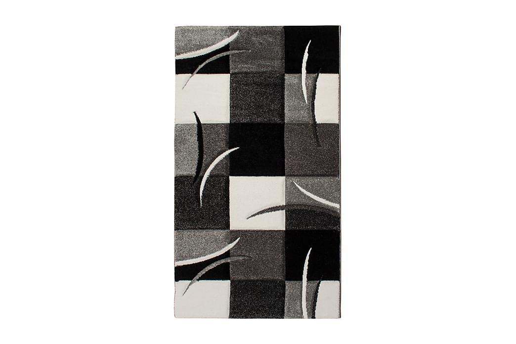 Friezematto London Patch 80x150 - Musta - Sisustustuotteet - Matot - Kuviolliset matot