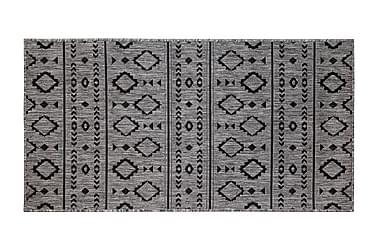 Hestia Inka -yleismatto 80x250 cm harmaa/musta
