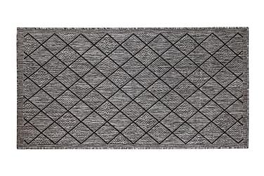 Hestia Ruutu -yleismatto 80x400 cm harmaa/musta
