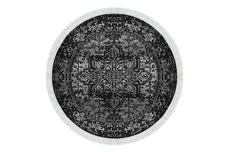 Matto Alanur Home 100x100 cm - Musta/Harmaa - Sisustustuotteet - Matot - Kuviolliset matot