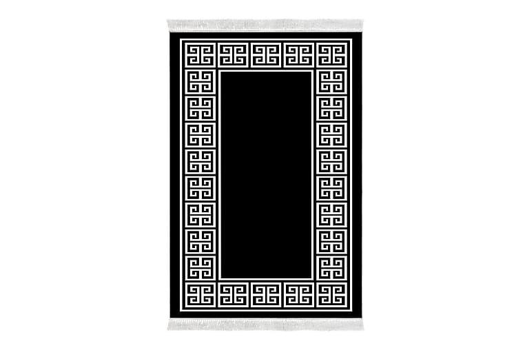 Matto Alanur Home 100x200 cm - Musta/Valkoinen - Sisustustuotteet - Matot - Kuviolliset matot