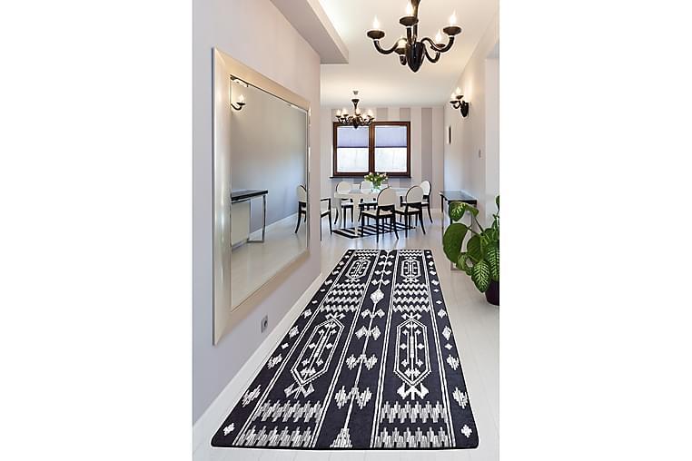 Matto Chilai 100x300 cm - Musta/Valkoinen - Sisustustuotteet - Matot - Kuviolliset matot