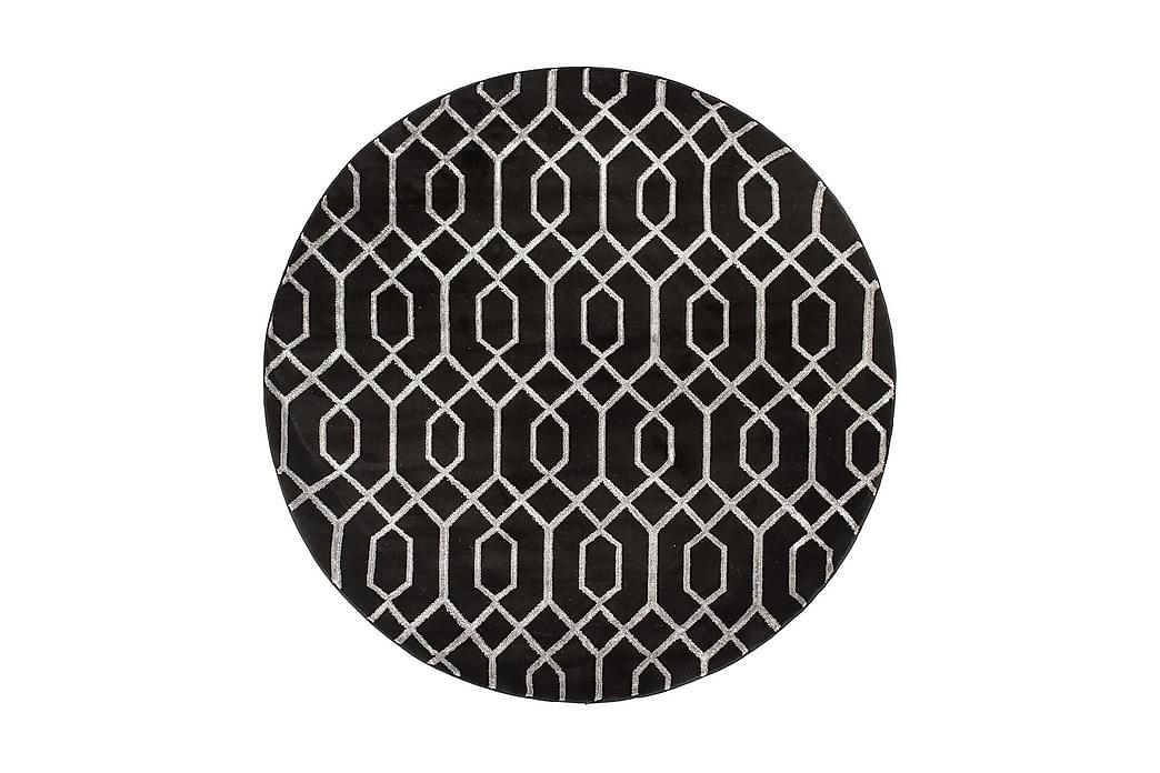 Matto Diamond Deluxe 160x160 cm Pyöreä - Hopea - Sisustustuotteet - Matot - Pyöreät matot