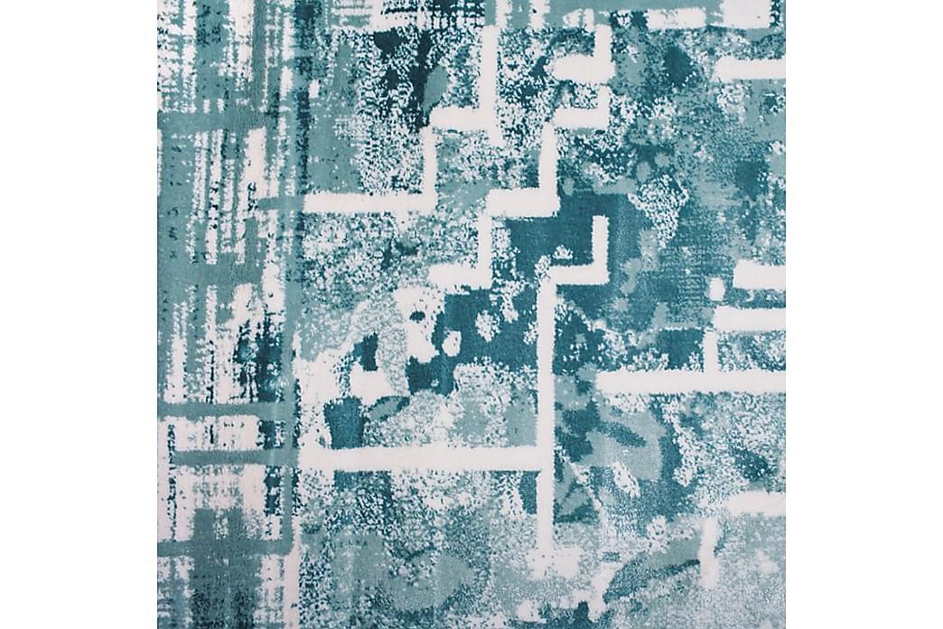 Matto Diamond Valkoinen/Turkoosi 160x230 - Pierre Cardin - Sisustustuotteet - Matot - Kuviolliset matot
