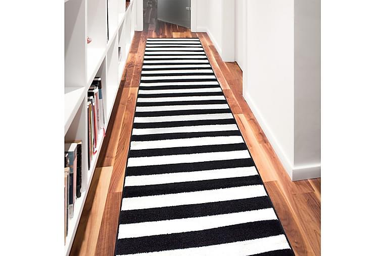 Matto Himeshe 120x300 cm - Musta / Valkoinen - Sisustustuotteet - Matot - Kuviolliset matot
