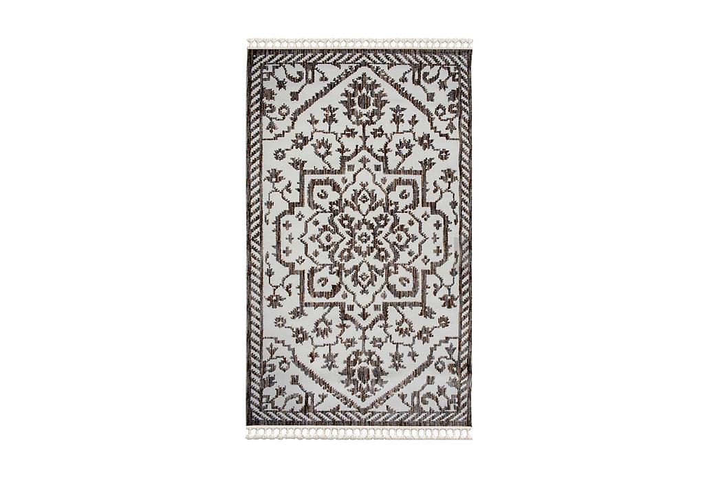Matto Larche 120x170 cm - Valkoinen/Ruskea/Harmaa - Sisustustuotteet - Matot - Kuviolliset matot