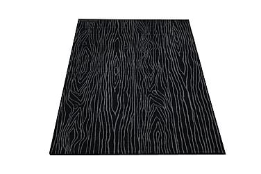 Keskilattiamatto Puun Pintaa 160x230 musta