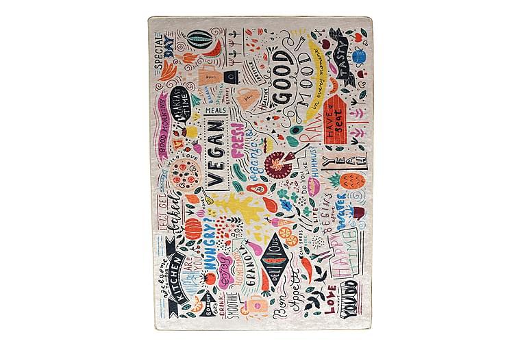 Matto Vegan 120x180 cm - Monivärinen / Sametti - Sisustustuotteet - Matot - Kuviolliset matot