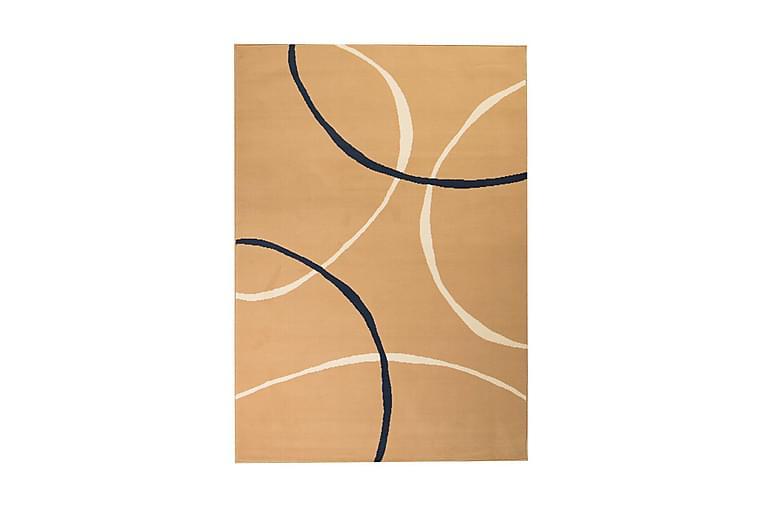 Moderni matto ympyräkuvio 120x170 cm ruskea - Monivärinen - Sisustustuotteet - Matot - Kuviolliset matot