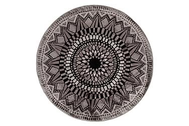 Mosaiikki effect Matto Ø 140 cm, grey