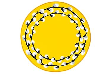 Pajunkissa Matto Ø 100 cm, yellow