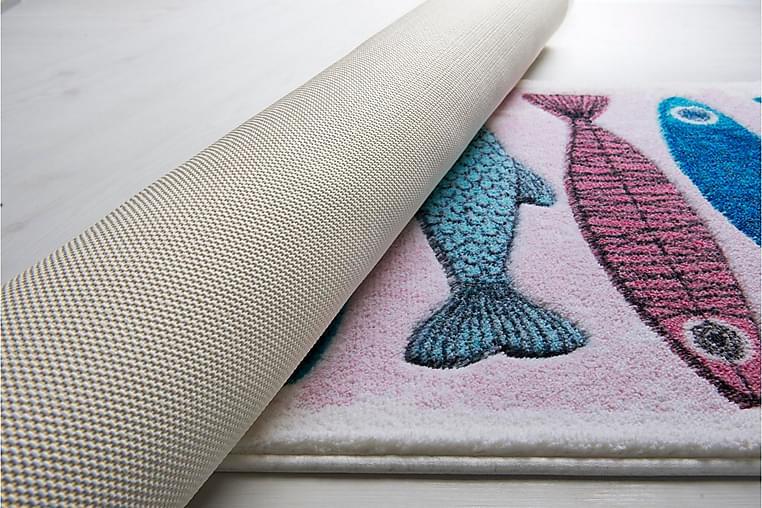 Kylpyhuonematto Penmon 2 kpl - Valk/vaaleanpun/sin/turk/kelt - Sisustustuotteet - Kodintekstiilit - Kylpyhuoneen tekstiilit