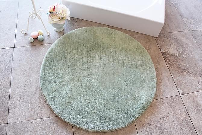 Kylpymatto Chilai Home by Alessia 90 Pyöreä - Tummanvihreä - Sisustustuotteet - Matot - Kylpyhuonematot